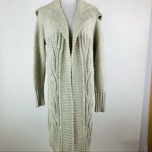 A New Day Open Front Cable Cardigan Sweater Small